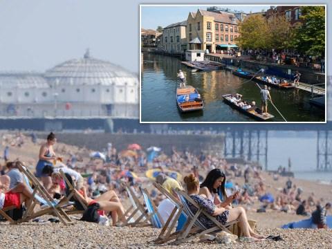 Brits enjoy 'second summer' as mini-heatwave sees temperatures reach 31°C