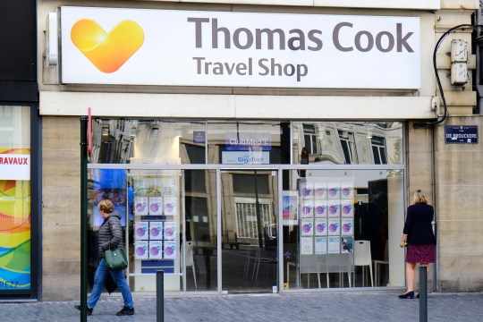 The frontage of Thomas Cook Travel Agent shop, in Brussels, Belgium on 23 September 2019.