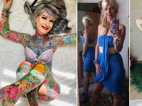 Woman, 55, who's spent almost £30,000 on tattoos gets asked if her genitals are inked