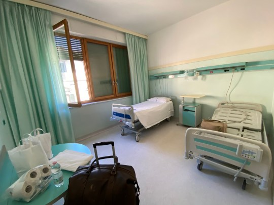 A hospital facility where the boys were put in quarantine