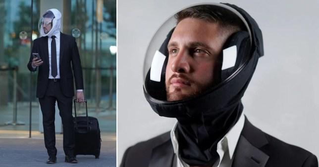Helmet masks pICS: MicroClimate/Facebook