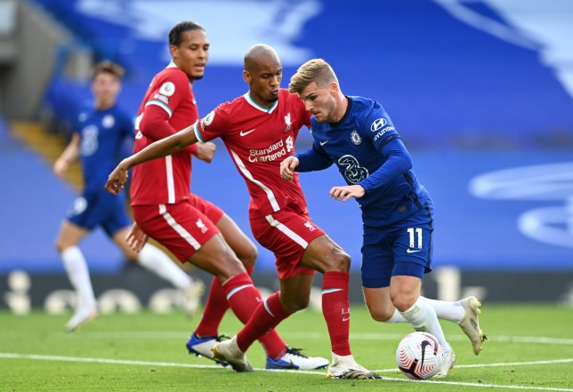 Fabinho got the better of Timo Werner as Liverpool beat Chelsea