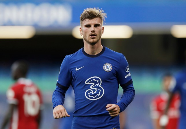 Timo Werner looked lively as Chelsea were beaten by Liverpool at Stamford Bridge