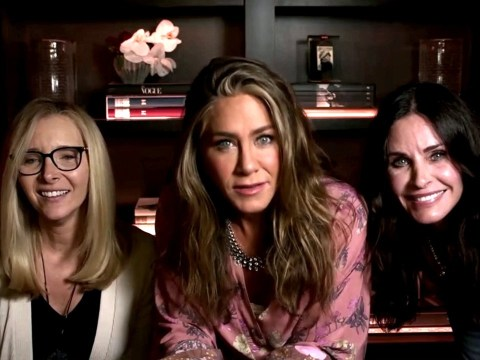 Jennifer Aniston turns Emmy Awards into Friends reunion with pals Courteney Cox and Lisa Kudrow