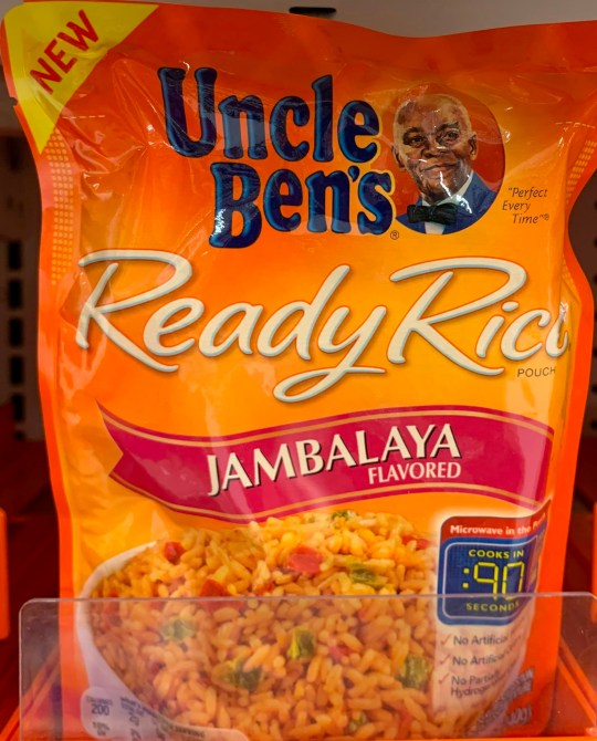 A bag of Uncle Ben's rice is seen on a store shelf in Washington DC.
