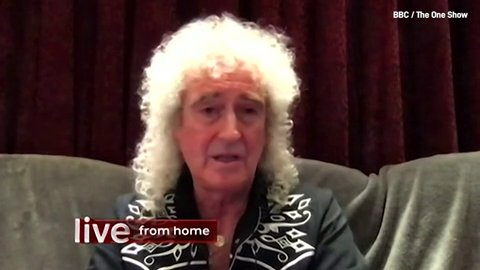 Brian May updates on his health Picture: BBC