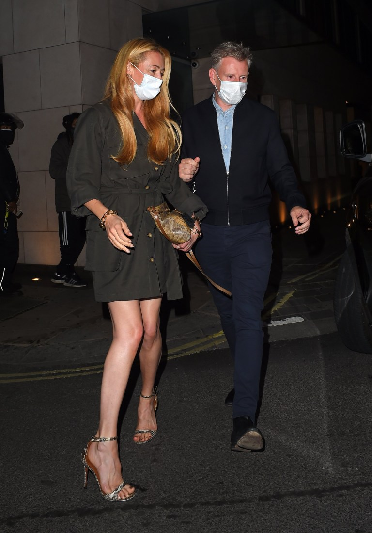 30 September 2020 - EXCLUSIVE. Cat Deeley and Patrick Kielty seen at Nobu Restaurant Park Lane Celebrating their 8th Wedding Anniversary. Credit: Timmie/GoffPhotos.com Ref: KGC-412 **Exclusive to GoffPhotos.com - Newspapers Allrounder - Magazines Double Space Rates - Online/Web Must Call Before Use**