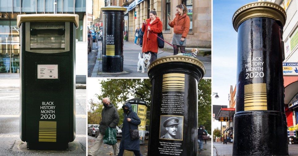 Black Britons celebrated with post boxes during Black History Month
