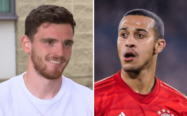 Liverpool star Andy Robertson reacts to Thiago reports and responds to Melwood sighting rumours