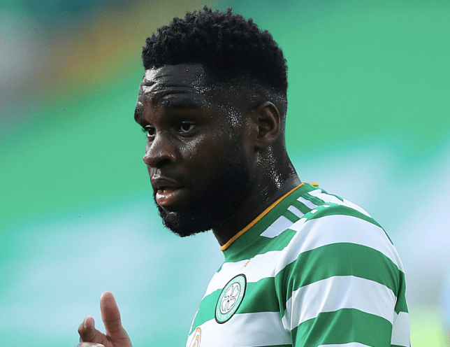 Arsenal transfer target Odsonne Edouard looks on during Celtic clash