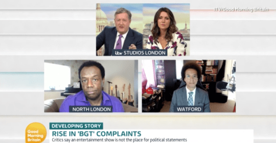 Piers Morgan and Susanna Reid joined by David Grant and Calvin Robinson on Good Morning Britain
