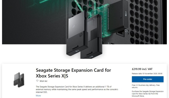 Xbox Series X and S 1TB SSD Storage Expansion Card