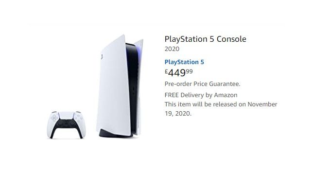 PS5 pre-order amazon