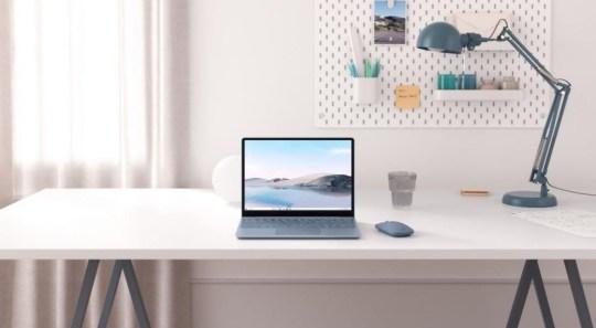 A Microsoft Surface laptop on a desk running Windows