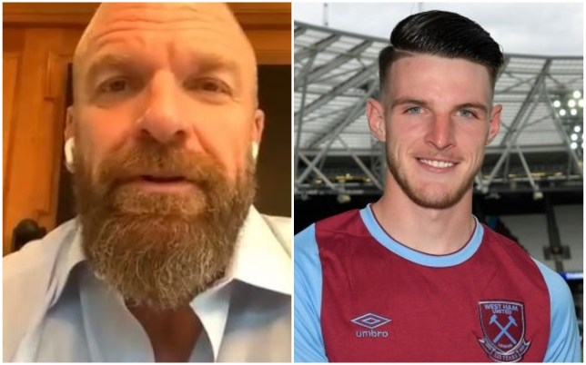 Triple H has advised Declan Rice to 'be a hero' for West Ham fans