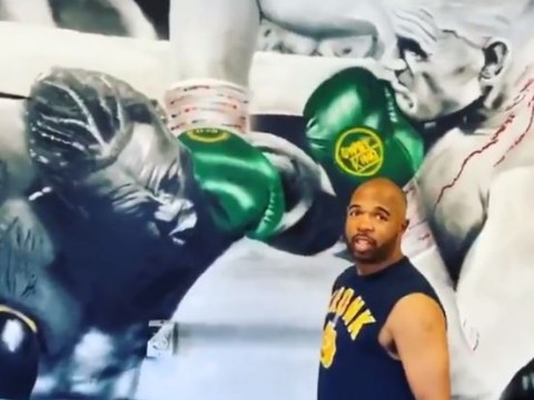 Tyson Fury mocks Deontay Wilder glove conspiracy theory with SugarHill Steward