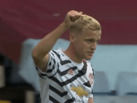 Ole Gunnar Solskjaer rates Donny van de Beek debut after Aston Villa defeat