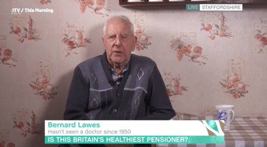 Pensioner who hasn't seen a doctor in 70 years reveals secret to keeping healthy