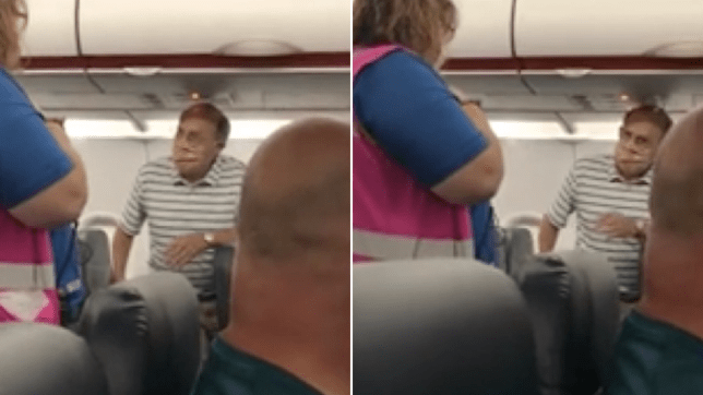 PAssenger being removed from plane