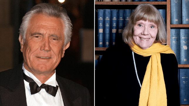 George Lazenby and Dame Diana Rigg