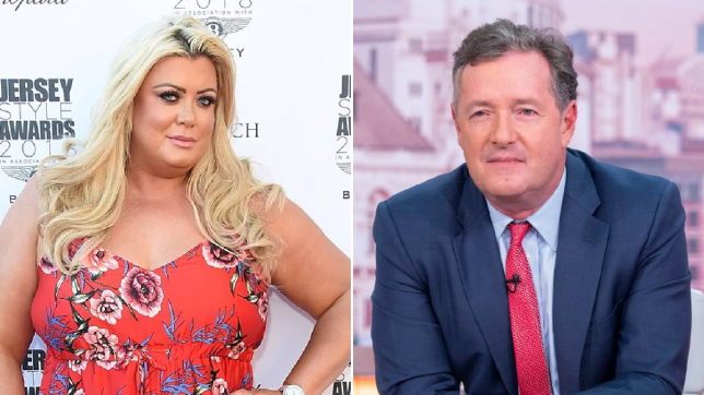 Gemma Collins and Piers Morgan