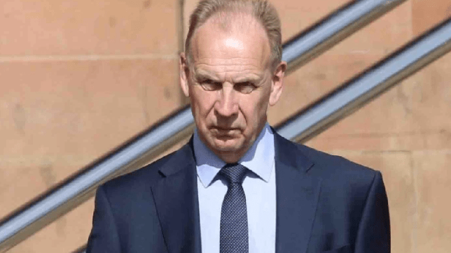 Pupils were left 'shocked and appalled' after seeing Stephen Fullerton, 63, 'naked and groping his crotch area' in front of the window of his living room.