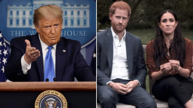 Donald Trump, Prince Harry and Meghan Markle
