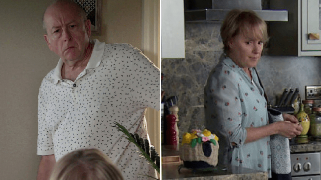 Geoff and Sally in Coronation Street