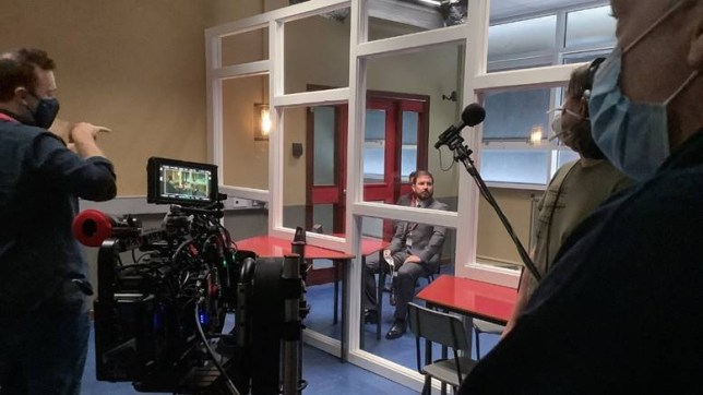 Martin Compston filming Line Of Duty series 6