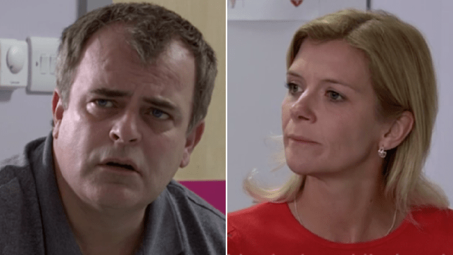 Leanne and Steve in Coronation Street