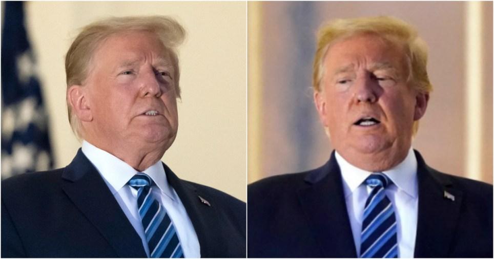 Donald Trump struggles for breath