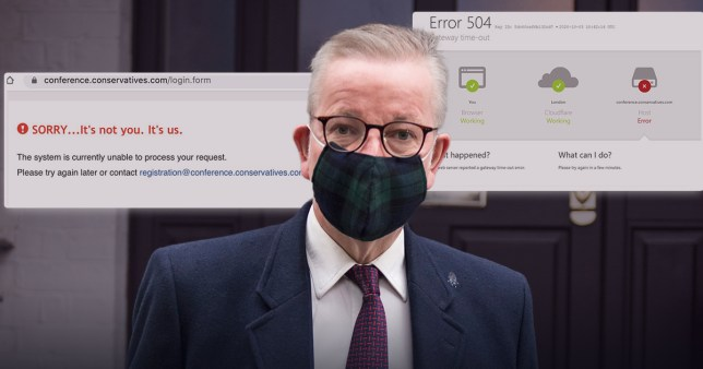 Tory party conference viewers found the website crashed