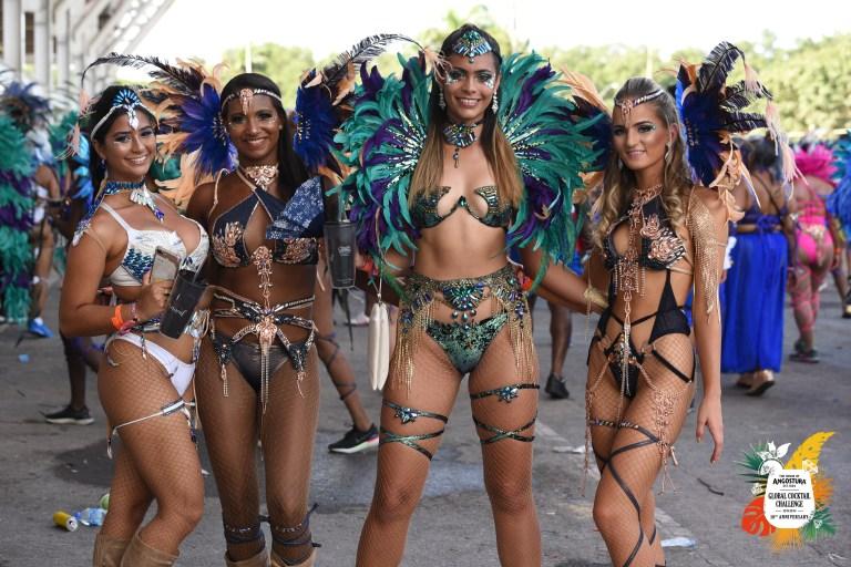 Revellers at Trinidad Carnival