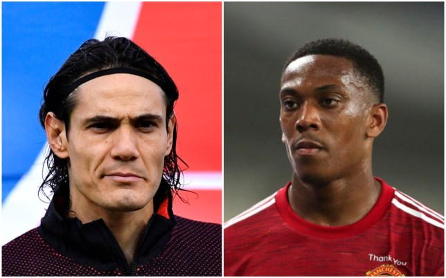 Edinson Cavani says hard work will be the key to Anthony Martial's improvement at Manchester United