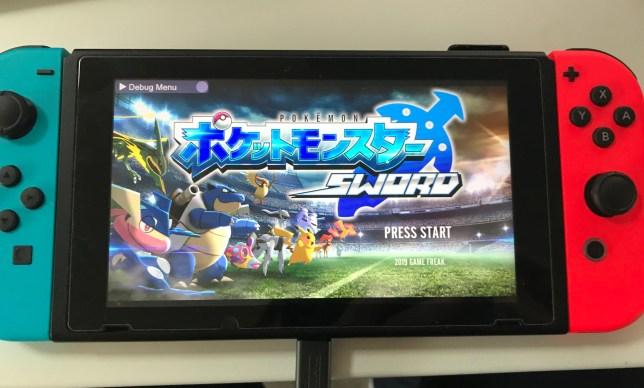 Pokémon Sword beta title screen