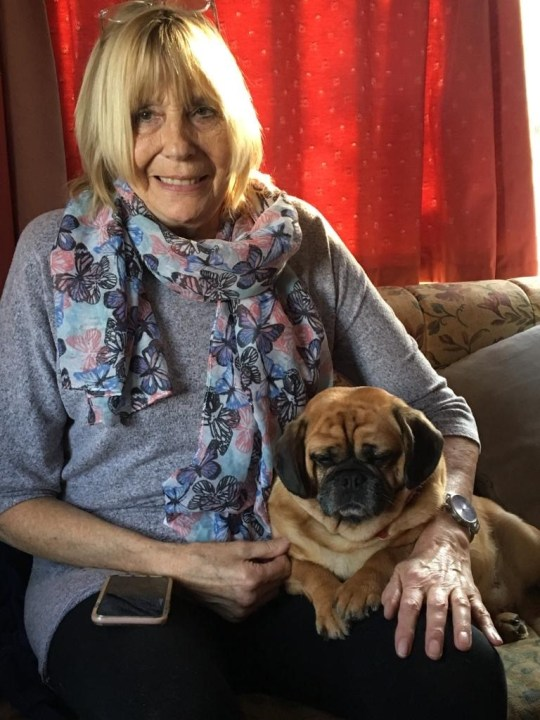 Sandra and Penny, who is now recovering at home