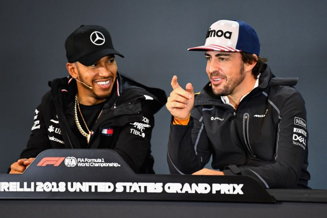 Lewis Hamilton and Fernando Alonso were former team-mates and rivals