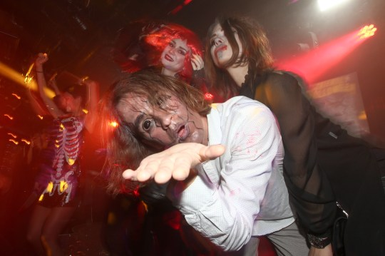 Halloween-themed night at a nightclub.