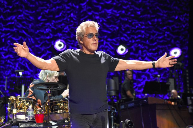 Roger Daltrey performing on stage