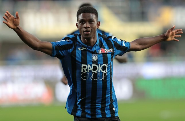 Manchester United transfer target Amad Traore celebrates in Atalanta's clash with Udinese