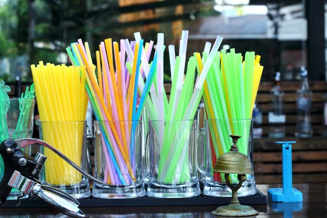 From today plastic straws, stirrers and ear buds will be illegal to sell.