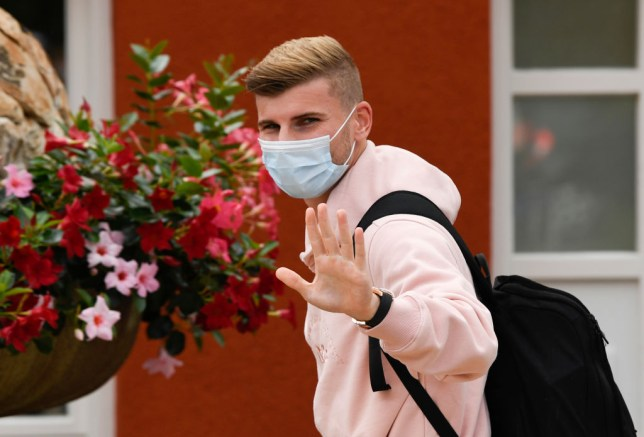 Chelsea star Timo Werner walks into Germany's training camp