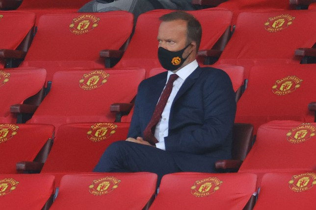 Ed Woodward looks on during Manchester United's Premier League clash with Crystal Palace