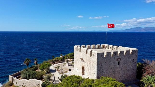 Guvercinada Castle, Turkey.