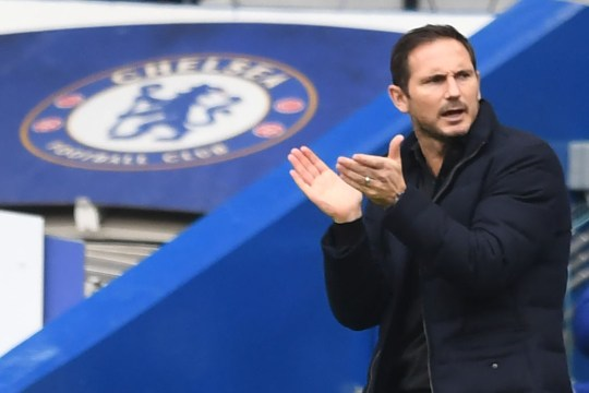 Frank Lampard applauds his Chelsea players in Premier League win over Crystal Palace