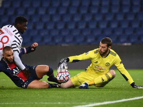 David de Gea and Paul Pogba react after Manchester United stun PSG in Champions League