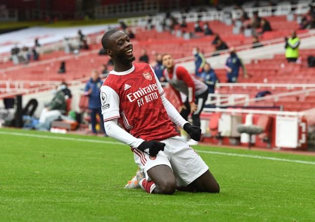 Nicolas Pepe scored in Arsenal's 2-1 win over Sheffield United