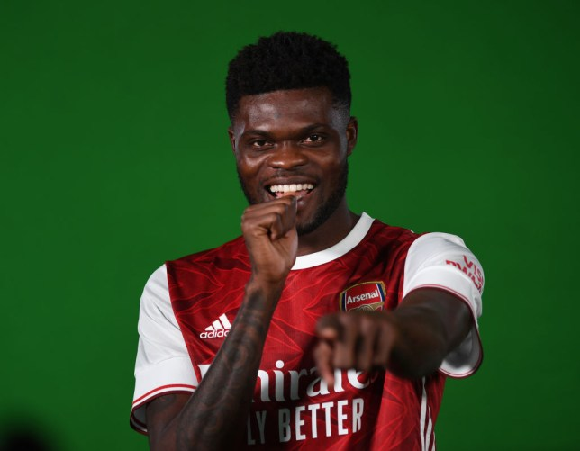 Thomas Partey completed a £45m move to Arsenal on transfer deadline day