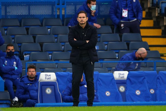 Lampard cut a frustrated figure on the sidelines