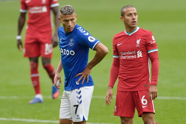 Richarlison sends message to Liverpool star Thiago after shocking red card tackle